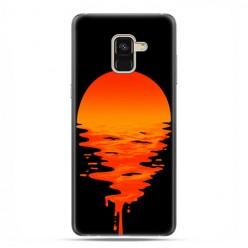 Samsung Galaxy A8 2018 - etui na telefon z grafiką - Zachodzące słońce.
