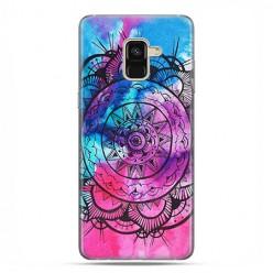 Samsung Galaxy A8 2018 - etui na telefon z grafiką - Rozeta watercolor.