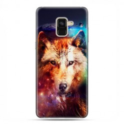 Samsung Galaxy A8 2018 - etui na telefon z grafiką - Wilk z galaktyki.
