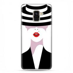 Samsung Galaxy A8 2018 - etui na telefon z grafiką - Kobieta w kapeluszu.