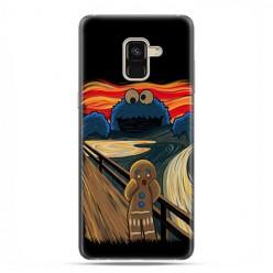 Samsung Galaxy A8 2018 - etui na telefon z grafiką - Parodia obrazu krzyk.