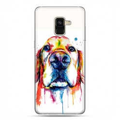 Samsung Galaxy A8 2018 - etui na telefon z grafiką - Pies labrador watercolor.