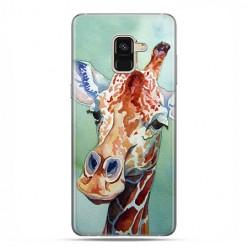 Samsung Galaxy A8 2018 - etui na telefon z grafiką - Żyrafa watercolor.