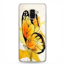 Samsung Galaxy A8 2018 - etui na telefon z grafiką - Motyl watercolor.
