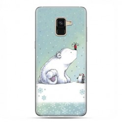 Samsung Galaxy A8 2018 - etui na telefon z grafiką - Polarne zwierzaki.