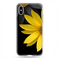 Apple iPhone X / Xs - etui na telefon - Żółty słonecznik