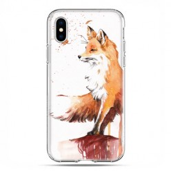 Apple iPhone X / Xs - etui na telefon - Pastelowy lisek