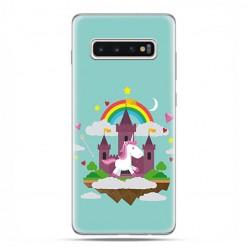 Samsung Galaxy S10 Plus - etui na telefon z grafiką - Tęczowy jednorożec.
