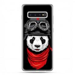 Samsung Galaxy S10 Plus - etui na telefon z grafiką - Panda w czapce.