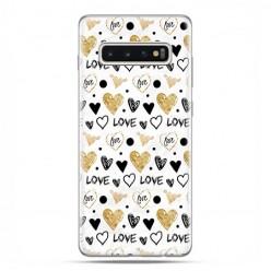 Samsung Galaxy S10 Plus - etui na telefon z grafiką - Serduszka Love.