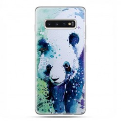 Samsung Galaxy S10 Plus - etui na telefon z grafiką - Miś panda watercolor.