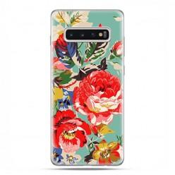 Samsung Galaxy S10 Plus - etui na telefon z grafiką - Kolorowe róże.