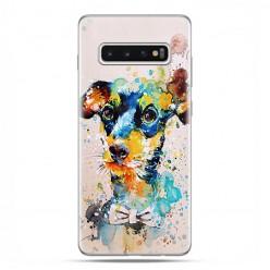 Samsung Galaxy S10 Plus - etui na telefon z grafiką - Szczeniak watercolor.