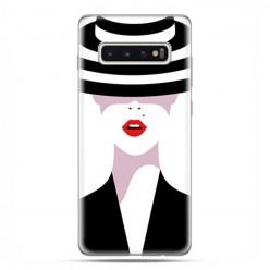 Samsung Galaxy S10 Plus - etui na telefon z grafiką - Kobieta w kapeluszu.