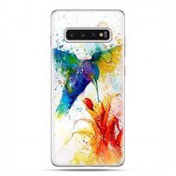 Samsung Galaxy S10 Plus - etui na telefon z grafiką - Niebieski koliber watercolor.