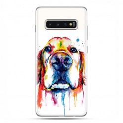 Samsung Galaxy S10 Plus - etui na telefon z grafiką - Pies labrador watercolor.