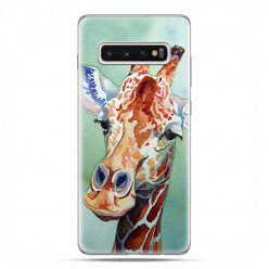 Samsung Galaxy S10 Plus - etui na telefon z grafiką - Żyrafa watercolor.