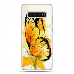 Samsung Galaxy S10 Plus - etui na telefon z grafiką - Motyl watercolor.