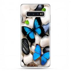 Samsung Galaxy S10 Plus - etui na telefon z grafiką - Niebieskie motyle.