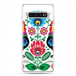 Samsung Galaxy S10 Plus - etui na telefon z grafiką - Łowickie wzory kwiaty.