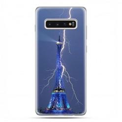 Samsung Galaxy S10 Plus - etui na telefon z grafiką - Wieża Eiffla z błyskawicą.