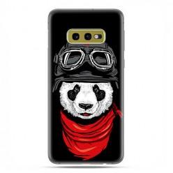 Samsung Galaxy S10e - etui na telefon z grafiką - Panda w czapce.