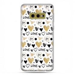 Samsung Galaxy S10e - etui na telefon z grafiką - Serduszka Love.