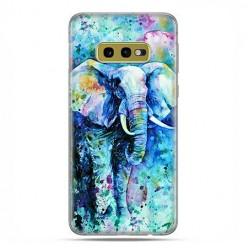 Samsung Galaxy S10e - etui na telefon z grafiką - Kolorowy słoń.