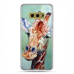 Samsung Galaxy S10e - etui na telefon z grafiką - Żyrafa watercolor.