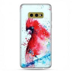 Samsung Galaxy S10e - etui na telefon z grafiką - Czerwona papuga watercolor.
