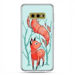 Samsung Galaxy S10e - etui na telefon z grafiką - Lisek pośród drzew.
