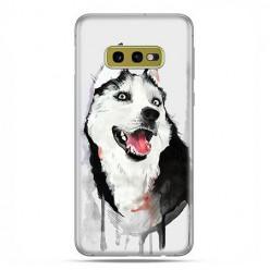 Samsung Galaxy S10e - etui na telefon z grafiką - Pies Husky watercolor.