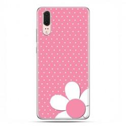 Huawei P20 - etui na telefon z grafiką - Różowa stokrotka