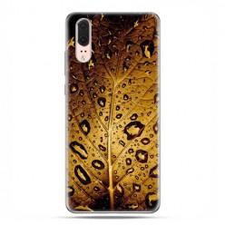 Huawei P20 - etui na telefon z grafiką - Złoty liść