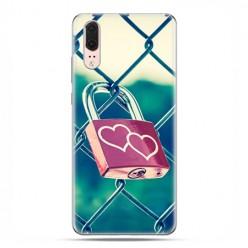 Huawei P20 - etui na telefon z grafiką - Kłódka symbol wiecznej miłości
