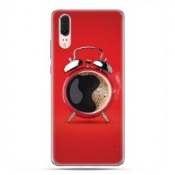Huawei P20 - etui na telefon z grafiką - Kawa poranny budzik