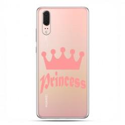 Huawei P20 - etui na telefon z grafiką - Princess z różową koroną