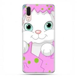 Huawei P20 - etui na telefon z grafiką - Różowy królik