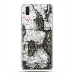 Huawei P20 - etui na telefon z grafiką - Drzewo pień brzozy