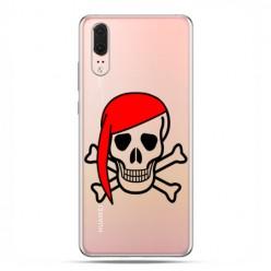 Huawei P20 - etui na telefon z grafiką - Pirat Roger z czerwoną chustą