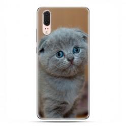 Huawei P20 - etui na telefon z grafiką - Smutna mała kicia