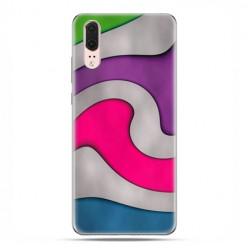 Huawei P20 - etui na telefon z grafiką - Kolorowa roztopiona plastelina
