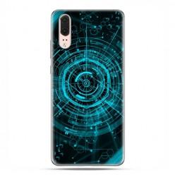 Huawei P20 - etui na telefon z grafiką - Futurystyczny schemat