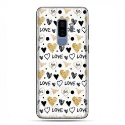 Samsung Galaxy S9 Plus - etui na telefon z grafiką - Serduszka Love.
