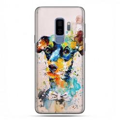 Samsung Galaxy S9 Plus - etui na telefon z grafiką - Szczeniak watercolor.