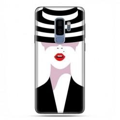 Samsung Galaxy S9 Plus - etui na telefon z grafiką - Kobieta w kapeluszu.