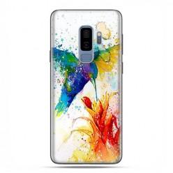 Samsung Galaxy S9 Plus - etui na telefon z grafiką - Niebieski koliber watercolor.
