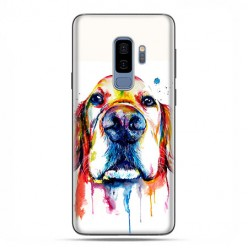 Samsung Galaxy S9 Plus - etui na telefon z grafiką - Pies labrador watercolor.