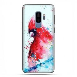 Samsung Galaxy S9 Plus - etui na telefon z grafiką - Czerwona papuga watercolor.