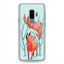 Samsung Galaxy S9 Plus - etui na telefon z grafiką - Lisek pośród drzew.